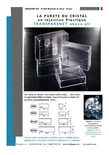 Transparent luxury boxes - GAGGIONE SAS