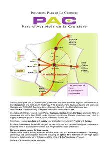 Presentation - PARC D'ACTIVITÉS DE LA CROISIÈRE