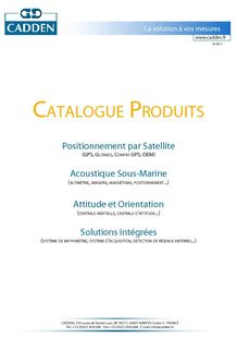 Products catalog - CADDEN