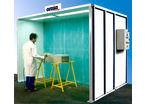 Liquid Painting Booth with Horizontal Ventilation