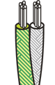Glass fibres insulated cables with copper overbraid - TRX-TRX-CUSN-R
