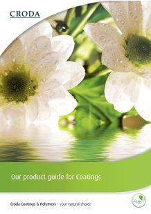 Coatings Brochure - CRODA FRANCE