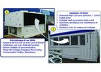 Containerization is the optimal solution for a mobile chiller.