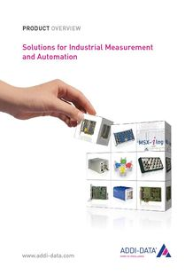 Solutions for industrial measurement and automation - ADDI-DATA FRANCE SAS