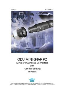 ODU MINI-SNAP PC PRESENTATION - ODU FRANCE