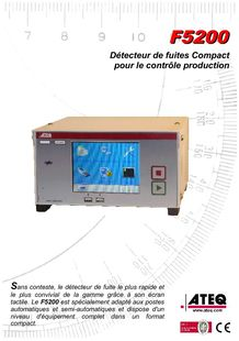 Leak tester - leak detection F5200 - ATEQ FRANCE