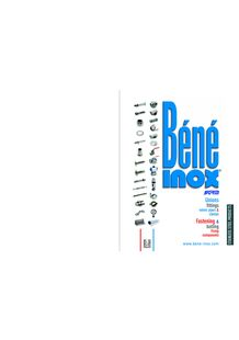 All our ranges of products - BENE INOX