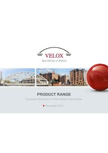 VELOX FRANCE - Velox - Raw materials for coatings