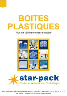Plastic boxes - STAR PACK SA