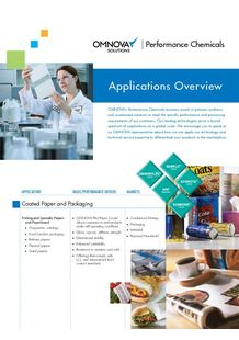 OMNOVA Solutions Performance Chemicals - OMNOVA SOLUTIONS