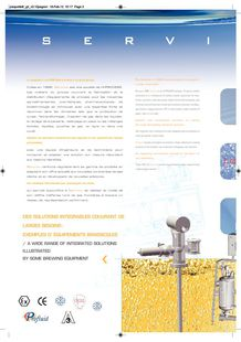 Servinox products ranges brochure - SERVINOX