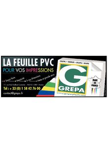 GREPA PVC sheet for printing - GREPA SA