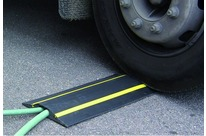Cable protectors for vehicle crossing with YELLOW STRIPES : Volga