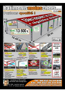 HALLS AVAILABLE FOR LOW COST PRICES: www.easyhalls.com - BATIMENTSMOINSCHERS.COM