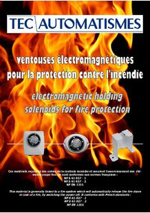 Electromagnetic holding solenoids range for fire protection - TEC AUTOMATISMES